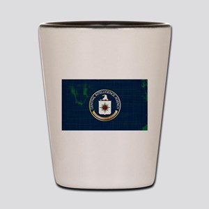 CIA Flag Grunge Shot Glass