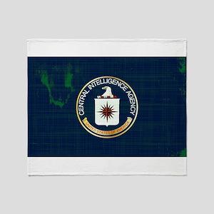 CIA Flag Grunge Throw Blanket