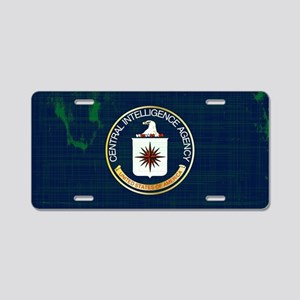 CIA Flag Grunge Aluminum License Plate