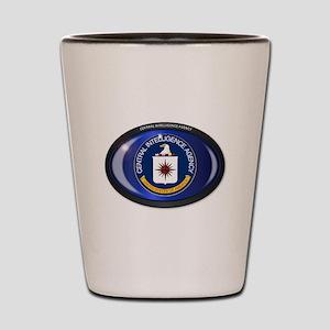 CIA Flag Oval Shot Glass