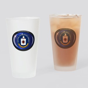 CIA Flag Oval Drinking Glass