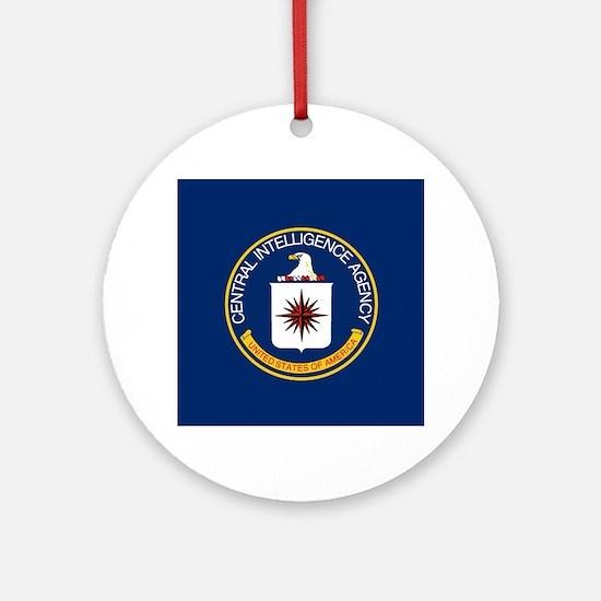 CIA Flag Round Ornament