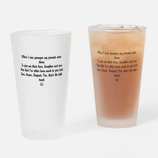 Funny poem about Love and Family Drinking Glass