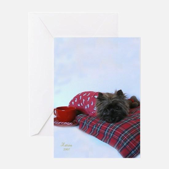 Christmas Cairn Greeting Card