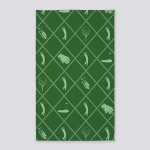 Golf Symbols Pattern Area Rug