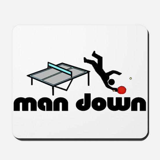 man down ponger Mousepad