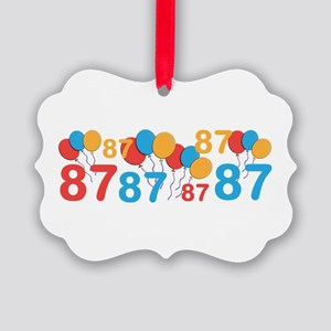 happy 87th birthday ornaments cafepress