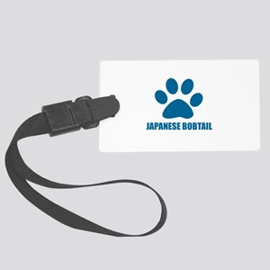 Japanese Bobtail Cat Designs Large Luggage Tag