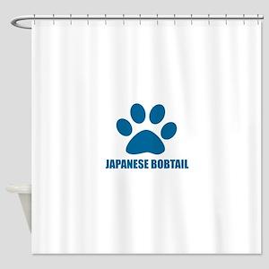Japanese Bobtail Cat Designs Shower Curtain