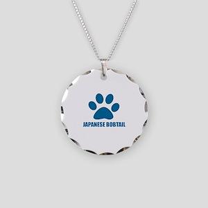 Japanese Bobtail Cat Designs Necklace Circle Charm