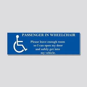 Passenger In Wheelchair 10x3 Car Magnet 10 X 3