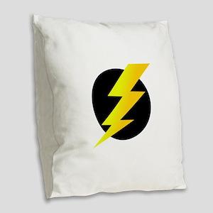 Lightning Bolt Burlap Throw Pillow