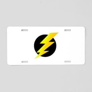 Lightning Bolt Aluminum License Plate