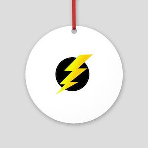 Lightning Bolt Round Ornament