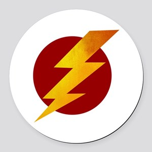 Lightning Bolt Round Car Magnet