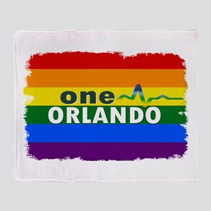One Orlando Strong Pulse Throw Blanket