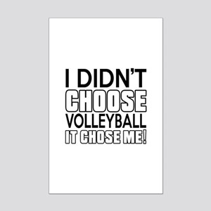 Volleyball It Chose Me Mini Poster Print