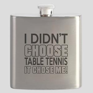 Table Tennis It Chose Me Flask