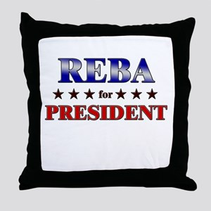 REBA for president Throw Pillow