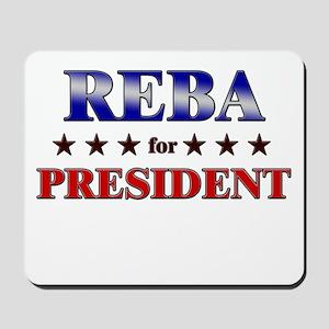 REBA for president Mousepad