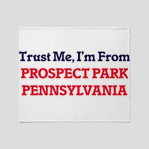 Trust Me, I'm from Prospect Park Pen Throw Blanket
