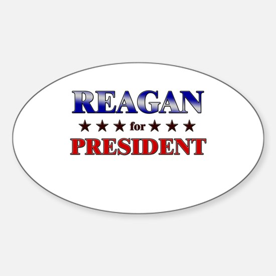 REAGAN for president Oval Decal