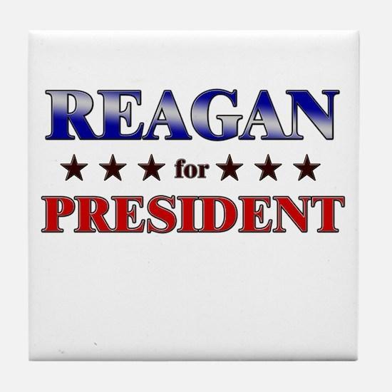 REAGAN for president Tile Coaster
