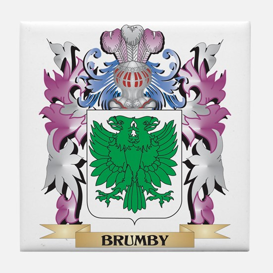 Brumby Coat of Arms (Family Crest) Tile Coaster