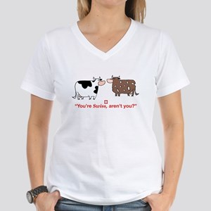 You're Swiss? Women's V-Neck T-Shirt