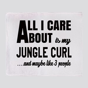 All I care about is my Jungle-curl Throw Blanket