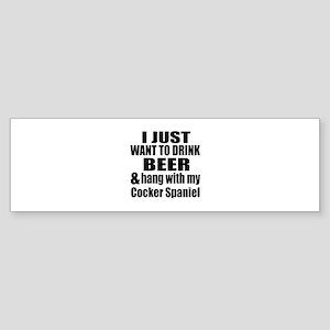 Hang With My Cocker Spaniel Sticker (Bumper)