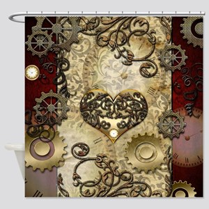 Steampunk, awesome heart with floral elements Show