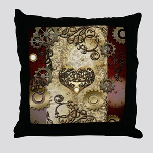 Steampunk, awesome heart with floral elements Thro