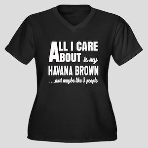All I care a Women's Plus Size V-Neck Dark T-Shirt