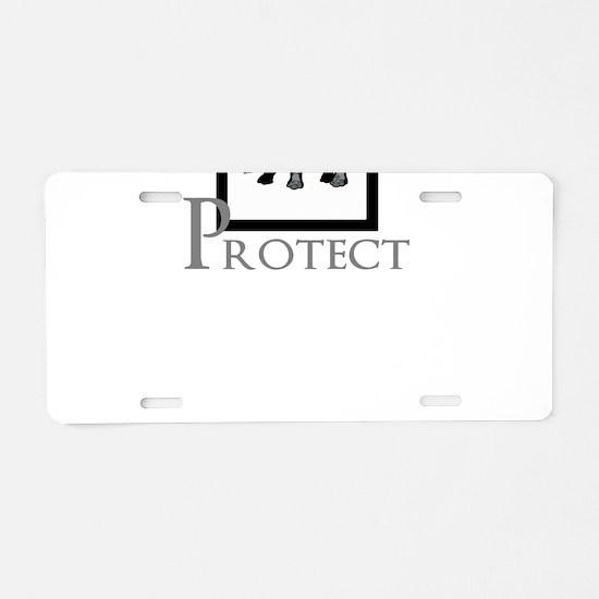 Protect Rhinos Aluminum License Plate