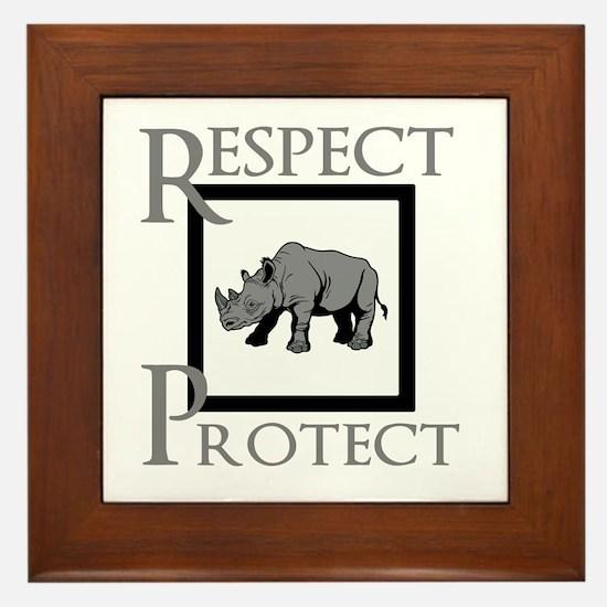 Protect Rhinos Framed Tile