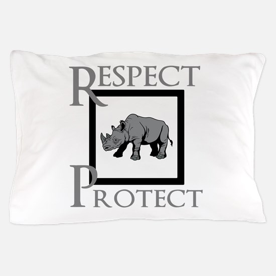 Protect Rhinos Pillow Case