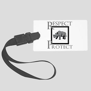 Protect Rhinos Luggage Tag