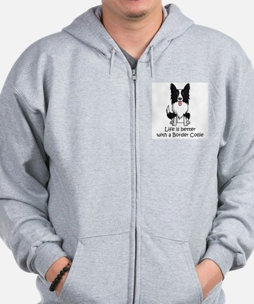 Life Is Better With A Border Collie Zip Hoodie