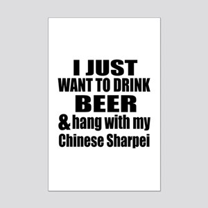 Hang With My Chinese Sharpei Mini Poster Print