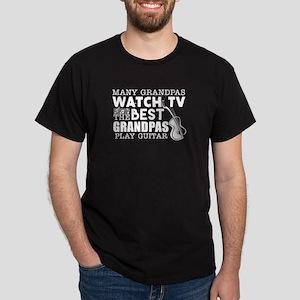 Many Grandpas Watch TV Best Grandpas Play T-Shirt
