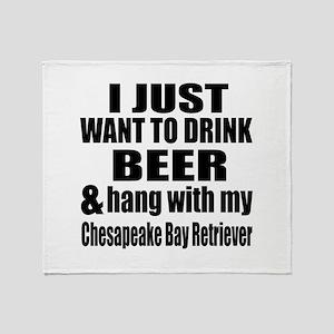 Hang With My Chesapeake Bay Retrieve Throw Blanket