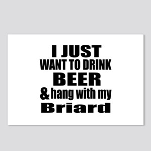 Hang With My Briard Postcards (Package of 8)