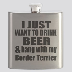 Hang With My Border Terrier Flask