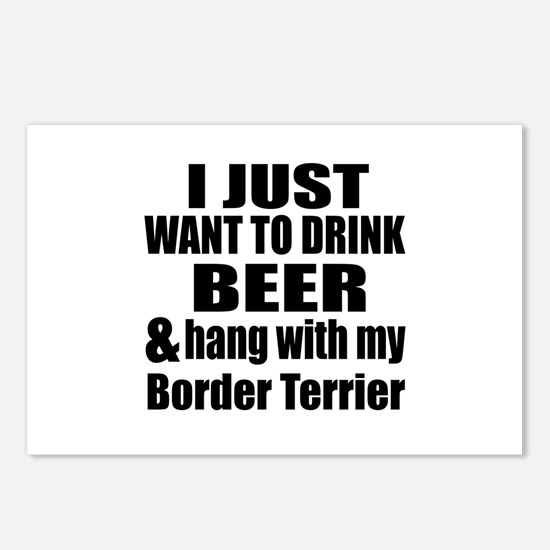 Hang With My Border Terri Postcards (Package of 8)