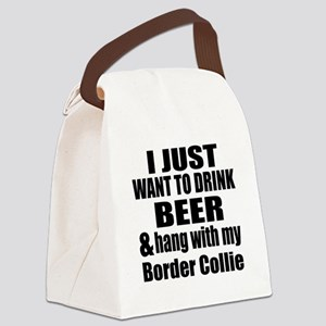 Hang With My Border Collie Canvas Lunch Bag