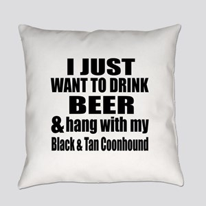 Hang With My Black & Tan Coonhound Everyday Pillow