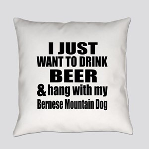 Hang With My Bernese Mountain Dog Everyday Pillow