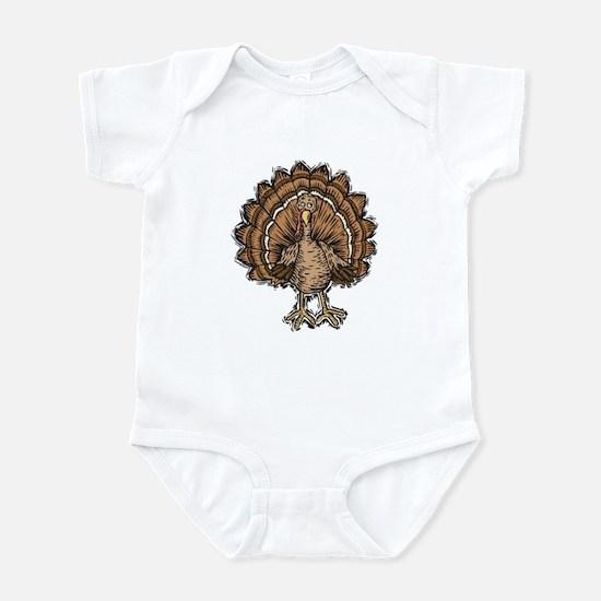 Cute Cartoon Turkey Infant Bodysuit