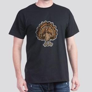 Cute Cartoon Turkey Dark T-Shirt